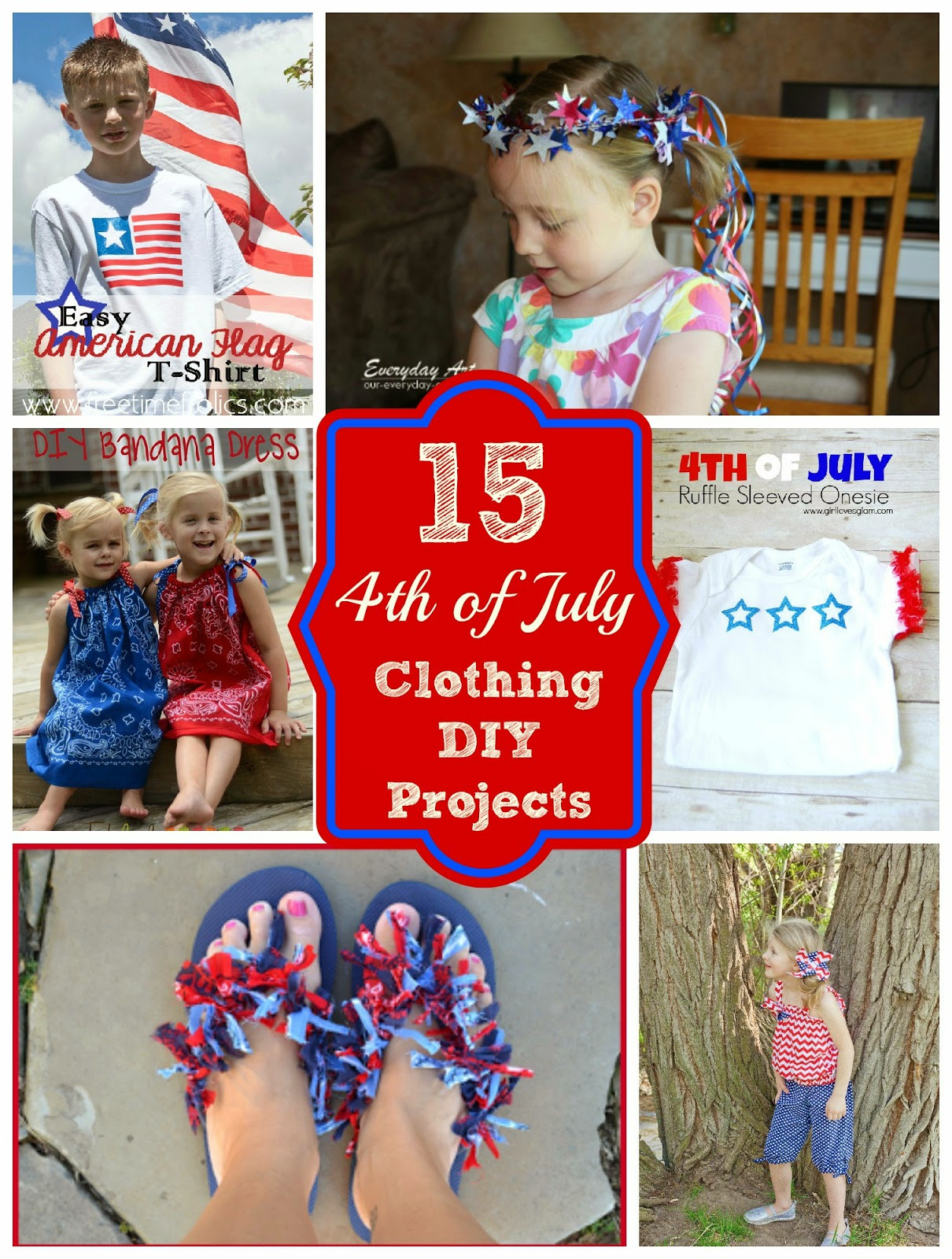 Best ideas about DIY 4Th Of July Outfits . Save or Pin What to wear Fourth of July 15 Diy Clothing Projects Now.