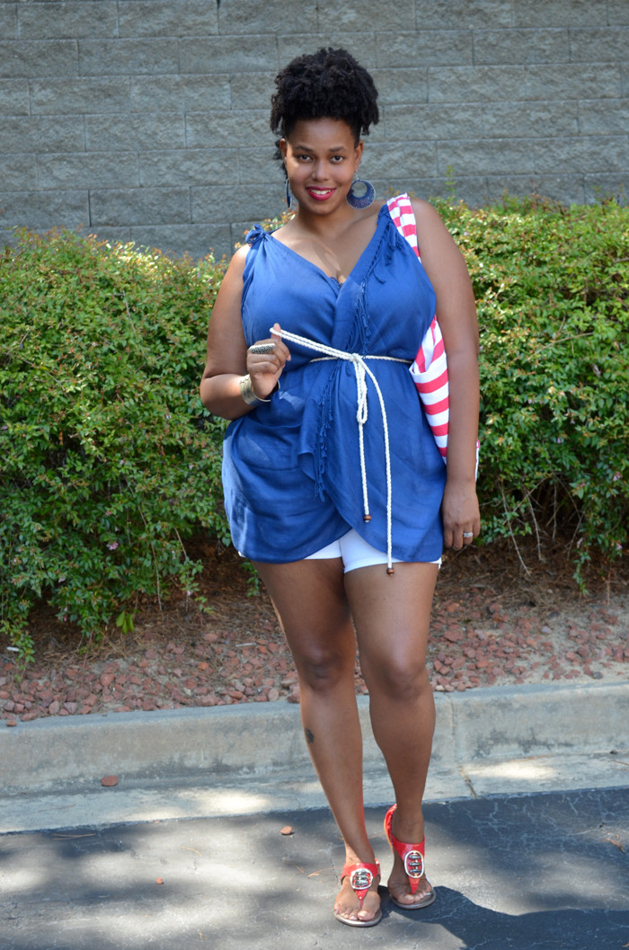Best ideas about DIY 4Th Of July Outfits . Save or Pin 4th of July Outfit DIY Scarf Top Tutorial Now.