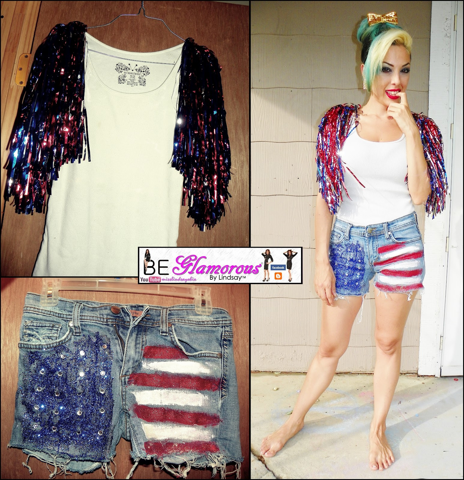 Best ideas about DIY 4Th Of July Outfits . Save or Pin Be Glamorous By Lindsay DIY 4th of July Independence Day Now.