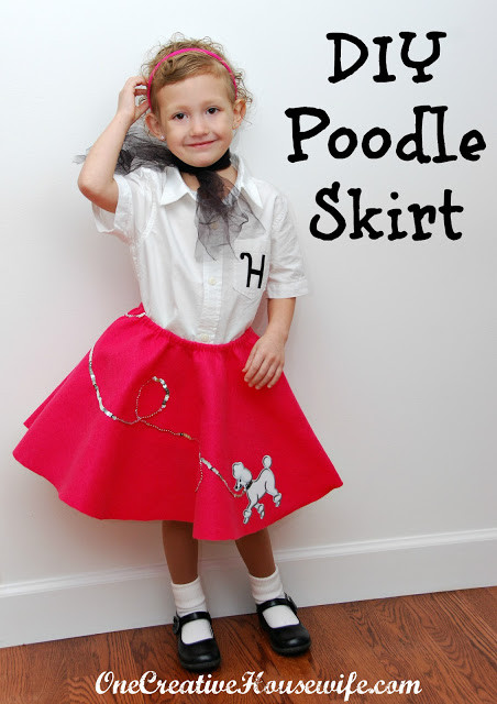 Best ideas about DIY 50S Costume . Save or Pin e Creative Housewife 50s Day Poodle Skirt Tutorial Now.