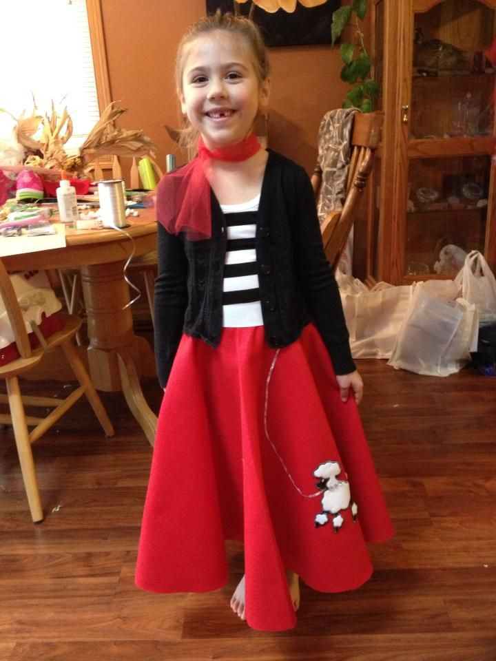 Best ideas about DIY 50S Costume . Save or Pin DIY Poodle Skirt Made for my niece for 50 s day at school Now.