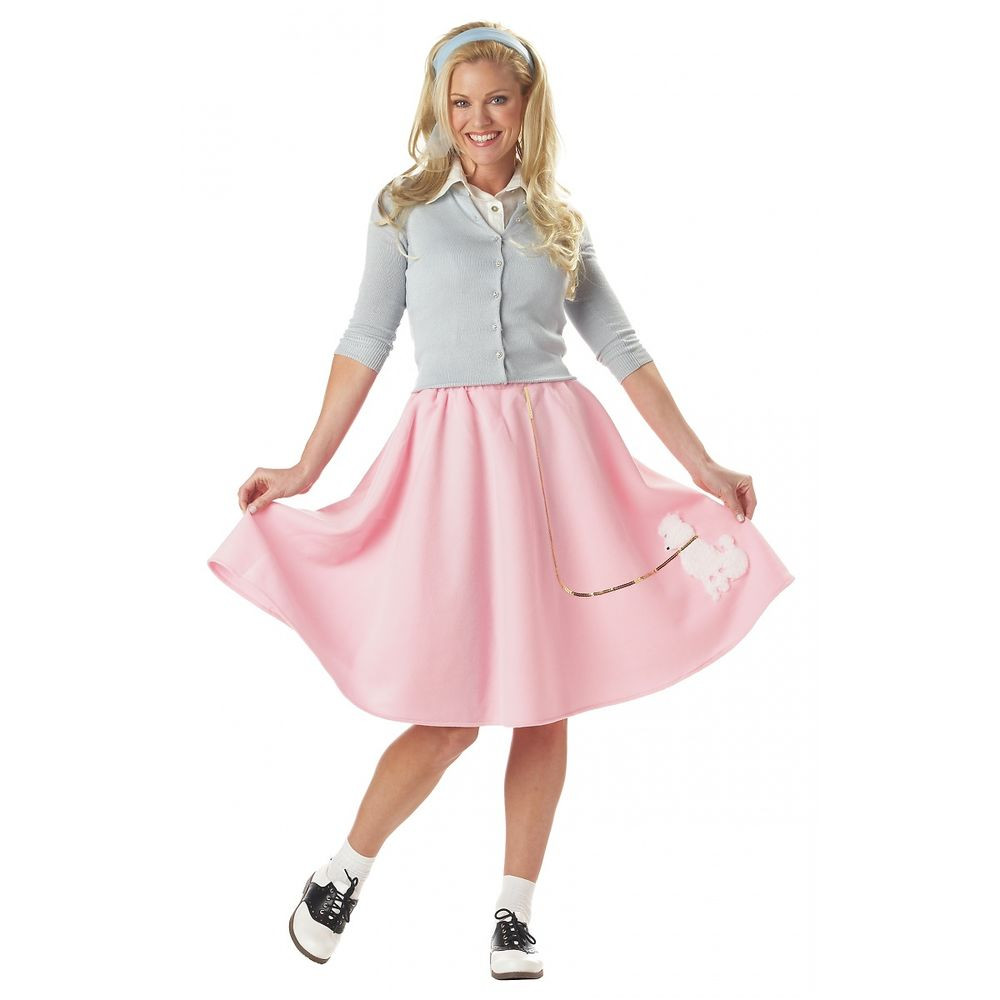 Best ideas about DIY 50S Costume . Save or Pin Poodle Skirt Costume Adult 50s Halloween Fancy Dress Now.