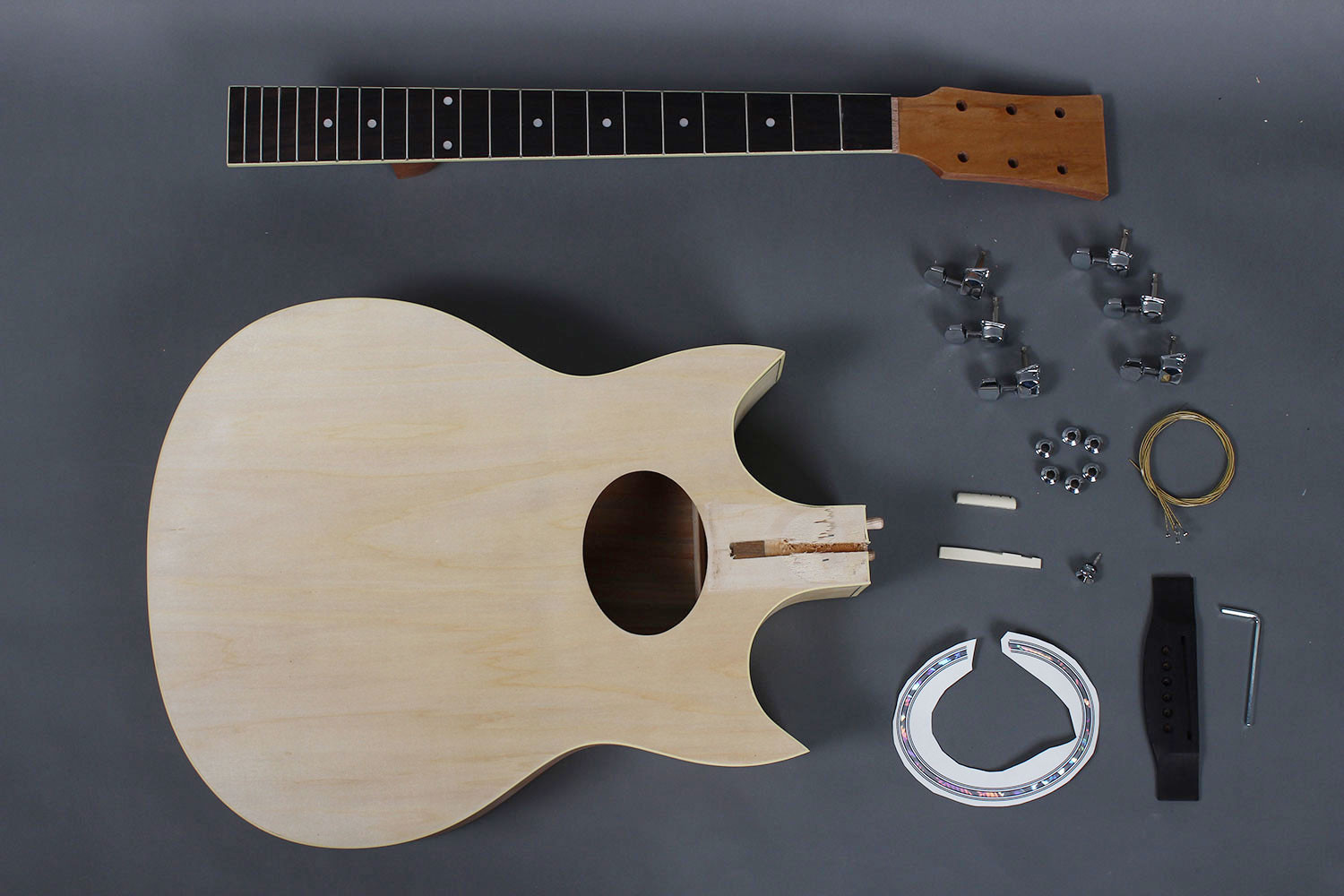 Best ideas about DIY Acoustic Guitar Kit . Save or Pin Jumbo Double Cutaway Acoustic Guitar kit DIY GK S3991DG Now.
