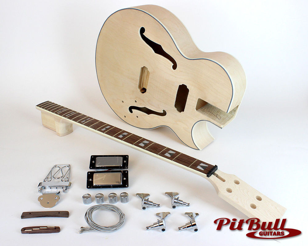 Best ideas about DIY Acoustic Guitar Kit . Save or Pin Pit Bull Guitars ES3 B4 plete DIY Hollow Body Electric Now.