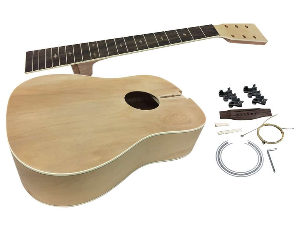 Best ideas about DIY Acoustic Guitar Kit . Save or Pin Solo Acoustic DIY Guitar Kit pleted Body Now.