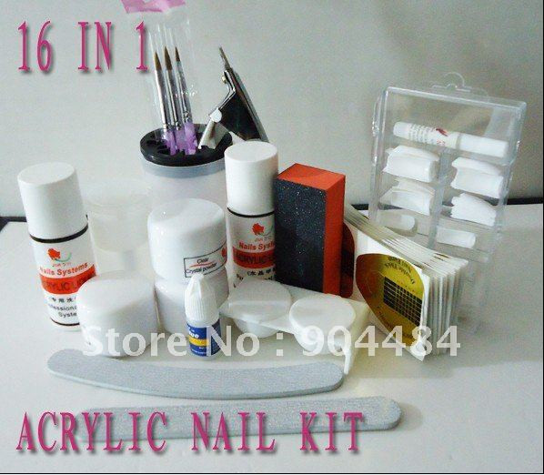 Best ideas about DIY Acrylic Nails Kit . Save or Pin Acrylic Nail Kit 18in1 Full Set For Diy Fingernail Desgin Now.