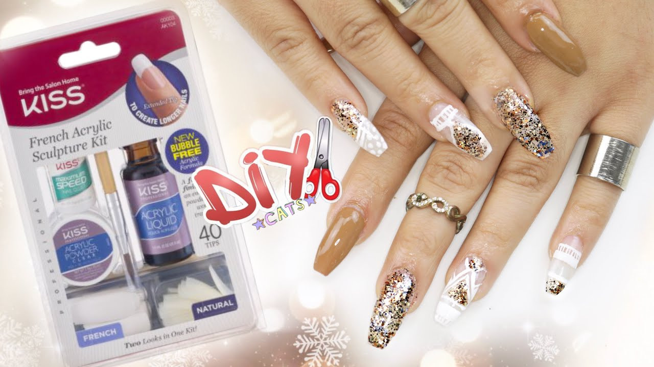 Best ideas about DIY Acrylic Nails Kit . Save or Pin DIY KISS Acrylic Nail Kit COFFIN NAILS STEP BY STEP Now.