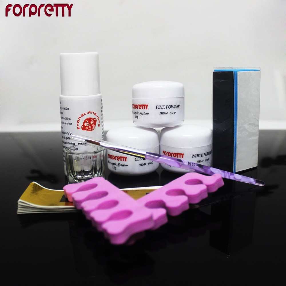 Best ideas about DIY Acrylic Nails Kit . Save or Pin Manicure Acrylic Nail Kit Nails Acrilico Diy Feramentas Now.