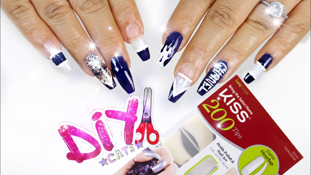 Best ideas about DIY Acrylic Nails Kit . Save or Pin DIY KISS Nail Kit COFFIN NAILS STEP BY STEP Now.