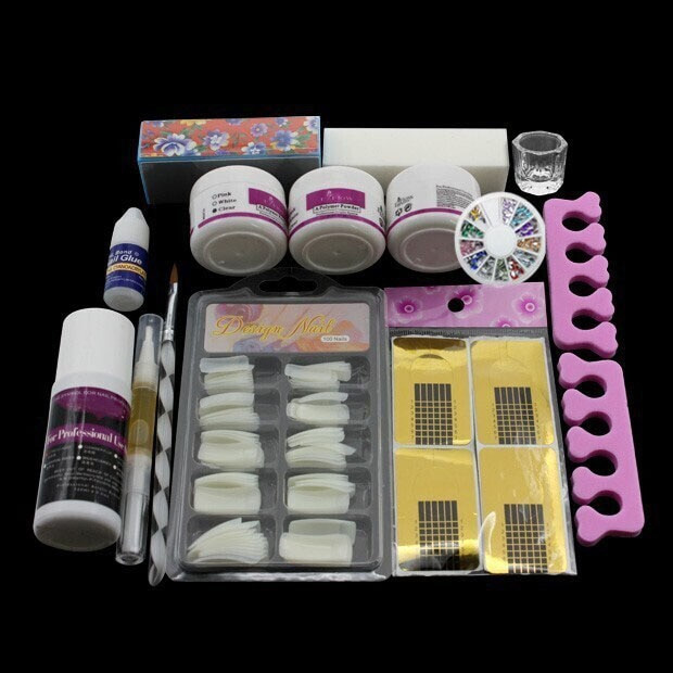 Best ideas about DIY Acrylic Nails Kit . Save or Pin Pro Full Pro Nail Art Tips Kit DIY Acrylic Nail Liquid Now.