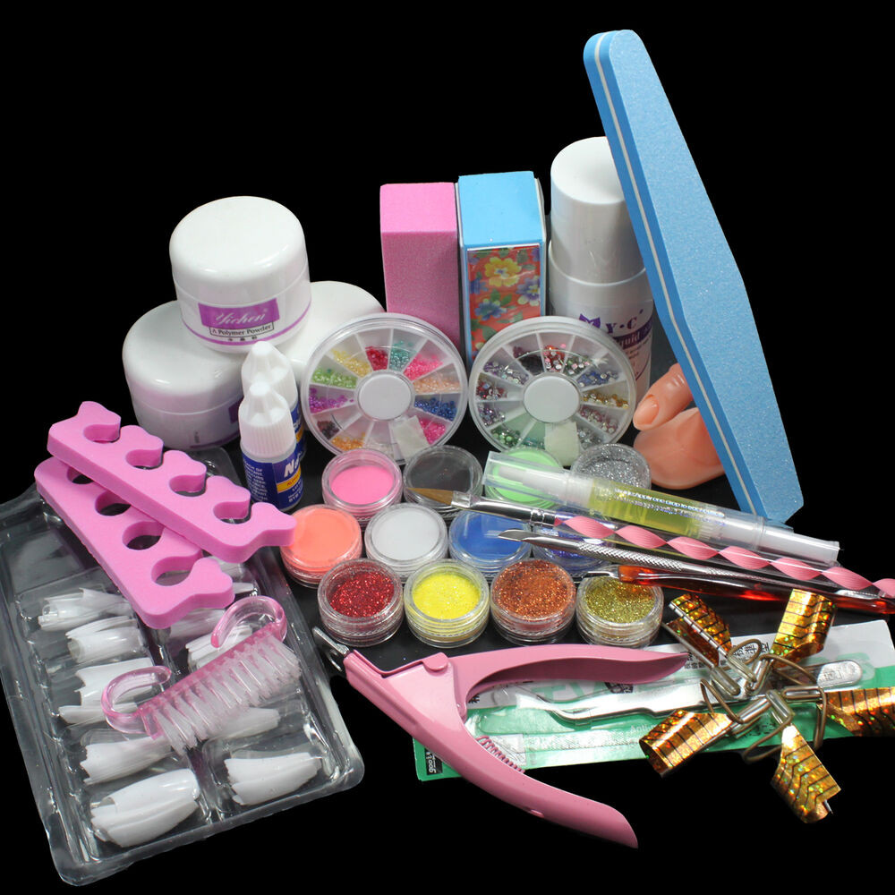 Best ideas about DIY Acrylic Nails Kit . Save or Pin Nail Art Set Acrylic Liquid Glitter Powder File Brush Form Now.
