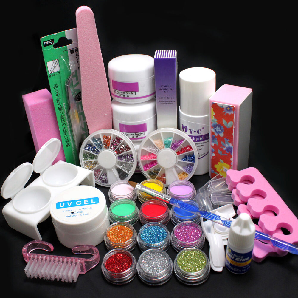 Best ideas about DIY Acrylic Nails Kit . Save or Pin 21in1 DIY Acrylic Powder Glitter Nail Art Brush Glue UV Now.