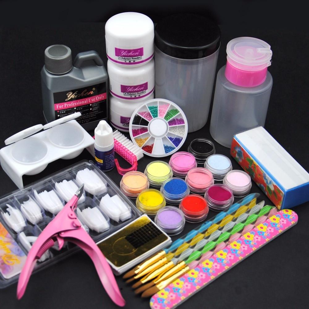 Best ideas about DIY Acrylic Nails Kit . Save or Pin New Acrylic Nail Set Acrylic Liquid Powder Nail Art Tools Now.
