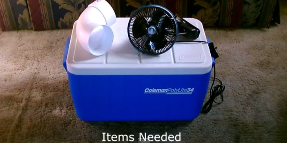 Best ideas about DIY Air Conditioning . Save or Pin Cooler and PVC pipe air conditioner costs $50 to make Now.