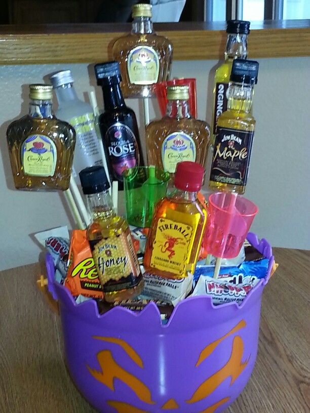 Best ideas about DIY Alcohol Gift Baskets . Save or Pin Halloween t basket diy Now.