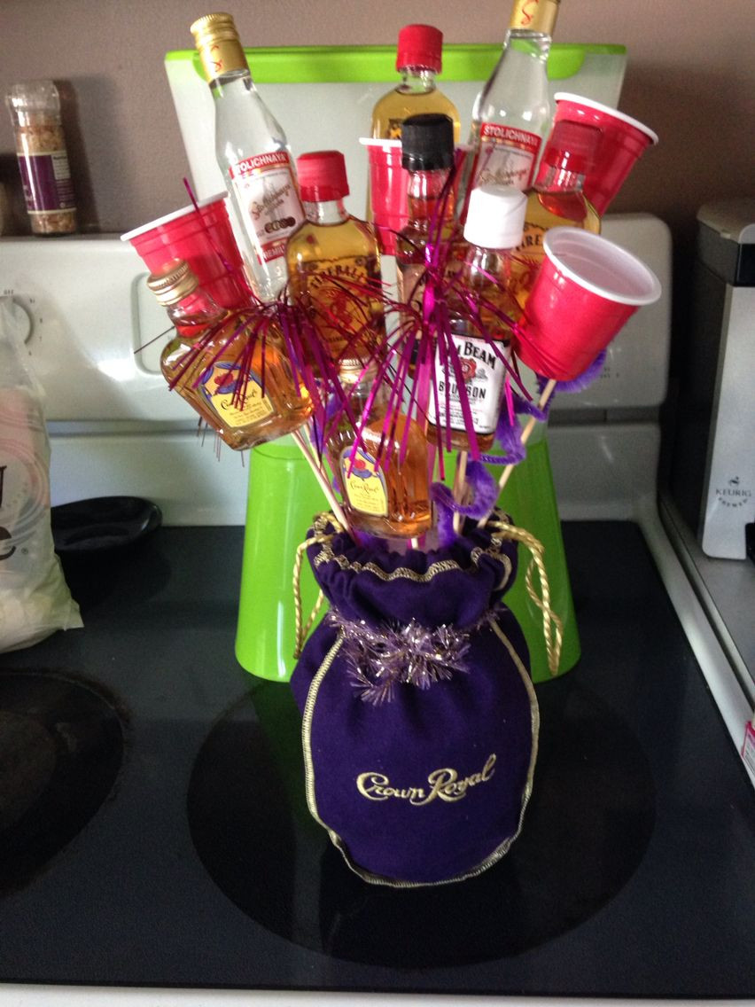 Best ideas about DIY Alcohol Gift Baskets . Save or Pin Mini liquor boquet My Finished Projects Now.