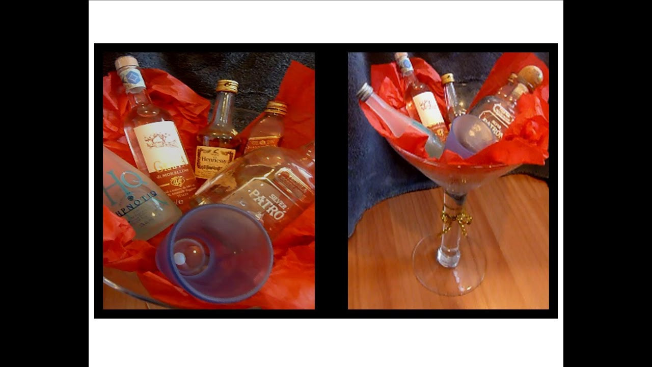 Best ideas about DIY Alcohol Gift Baskets . Save or Pin Diy Gift Mini Alchohol Basket Now.