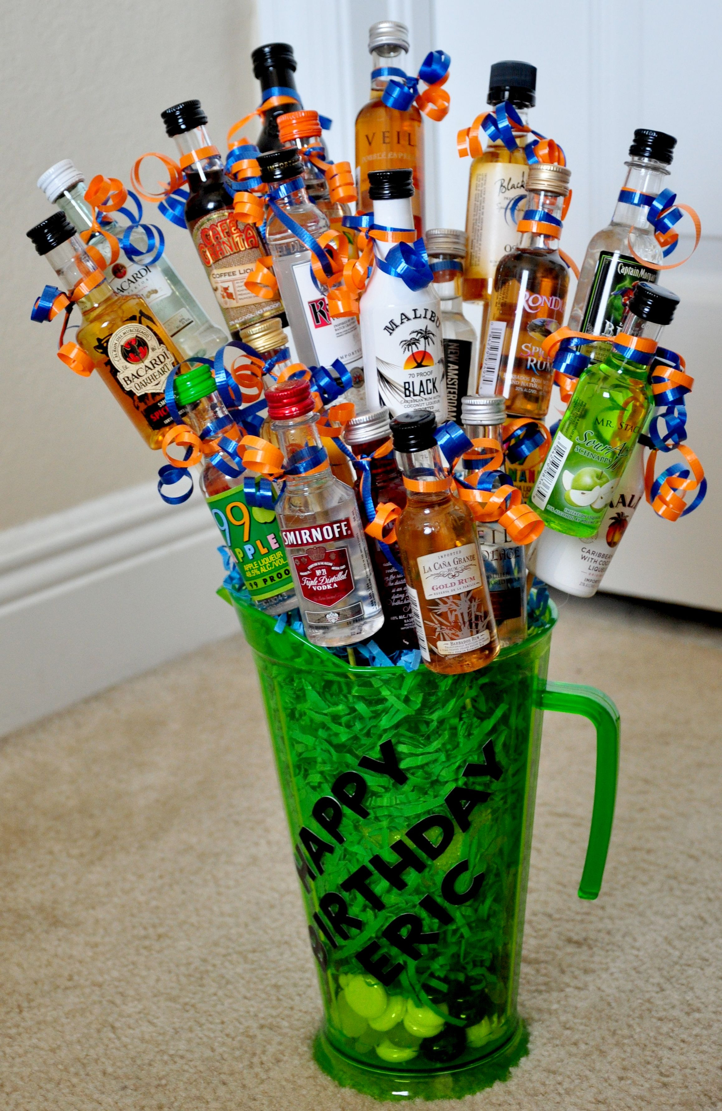 Best ideas about DIY Alcohol Gift Baskets . Save or Pin Birthday Booze Bouquet Crafty Now.