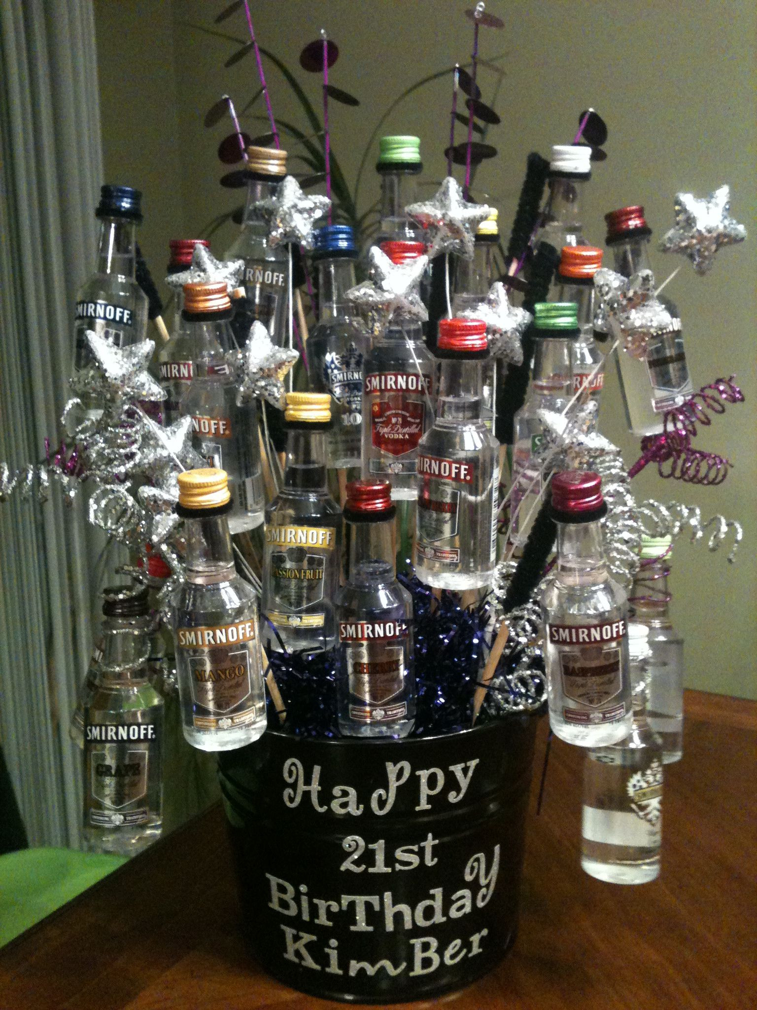 Best ideas about DIY Alcohol Gift Baskets . Save or Pin Great 21st Birthday shot basket Now.