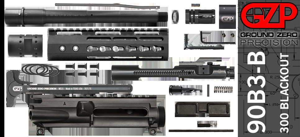 "Best ideas about DIY Ar 15 Kits . Save or Pin DIY 9"" 300 Blackout AR 15 Free Float Upper Receiver Kit Now."