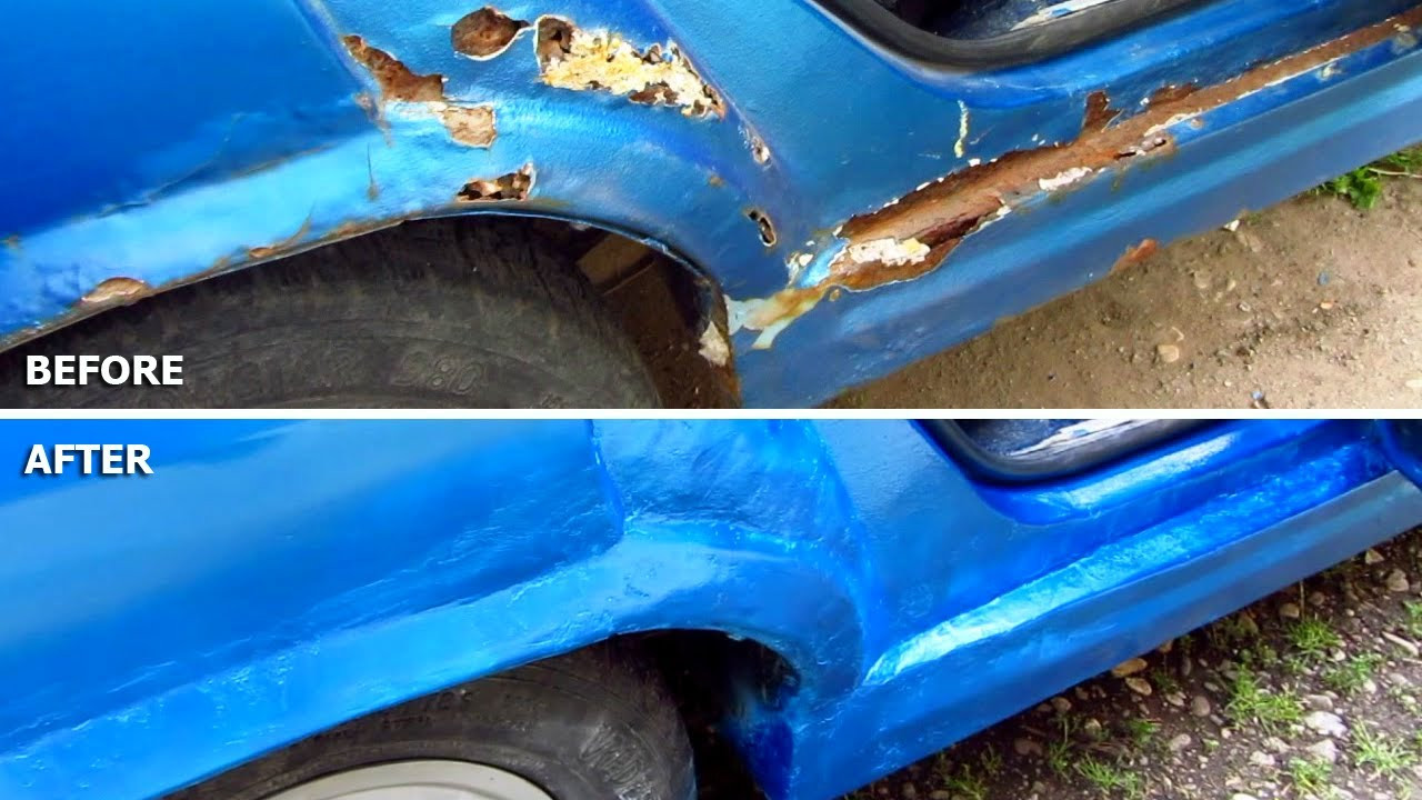 Best ideas about DIY Autobody Repair . Save or Pin Car Body Repair DIY rust holes filler sanding primer Now.