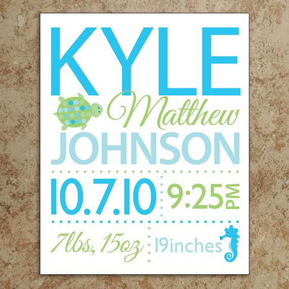Best ideas about DIY Baby Announcement . Save or Pin Items similar to Birth Announcement Wall Art DIY Now.