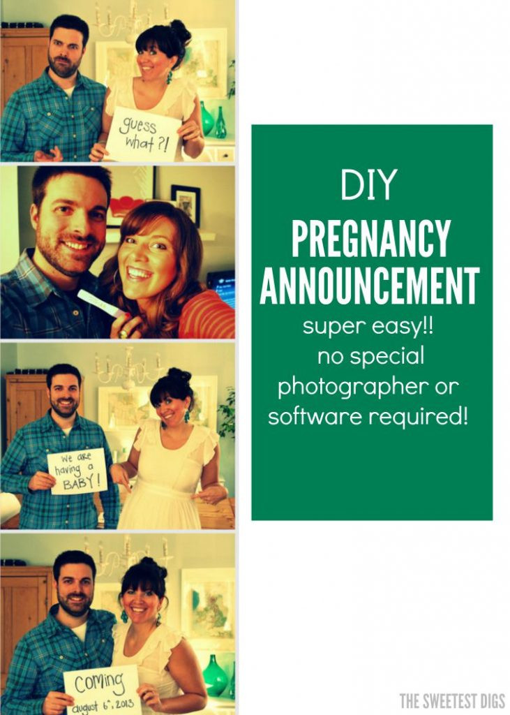Best ideas about DIY Baby Announcement . Save or Pin pregnancy announcement ideas how to DIY a photostrip Now.