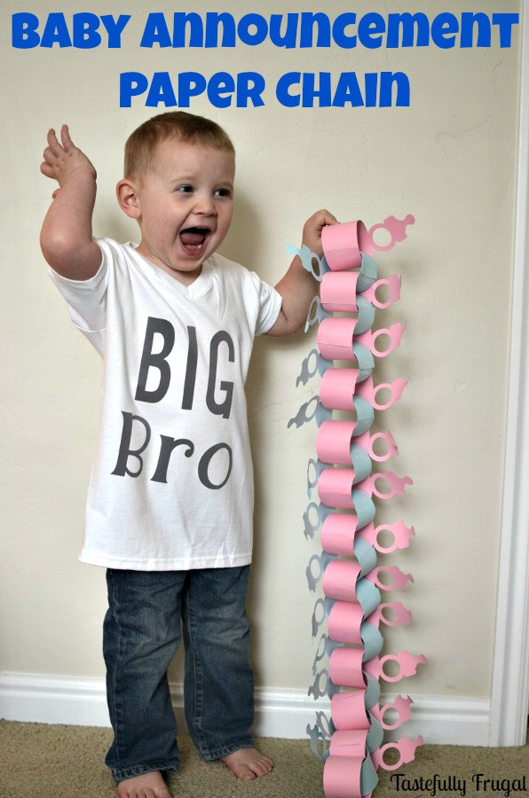 Best ideas about DIY Baby Announcement . Save or Pin DIY Baby Announcement Paper Chain Tastefully Frugal Now.