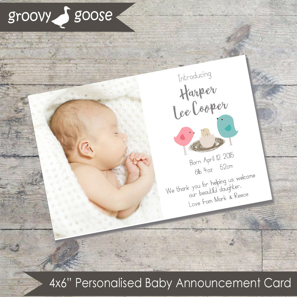 Best ideas about DIY Baby Announcement . Save or Pin Bird Nest BABY ANNOUNCEMENT Card DIY Printable Baby Thank Now.