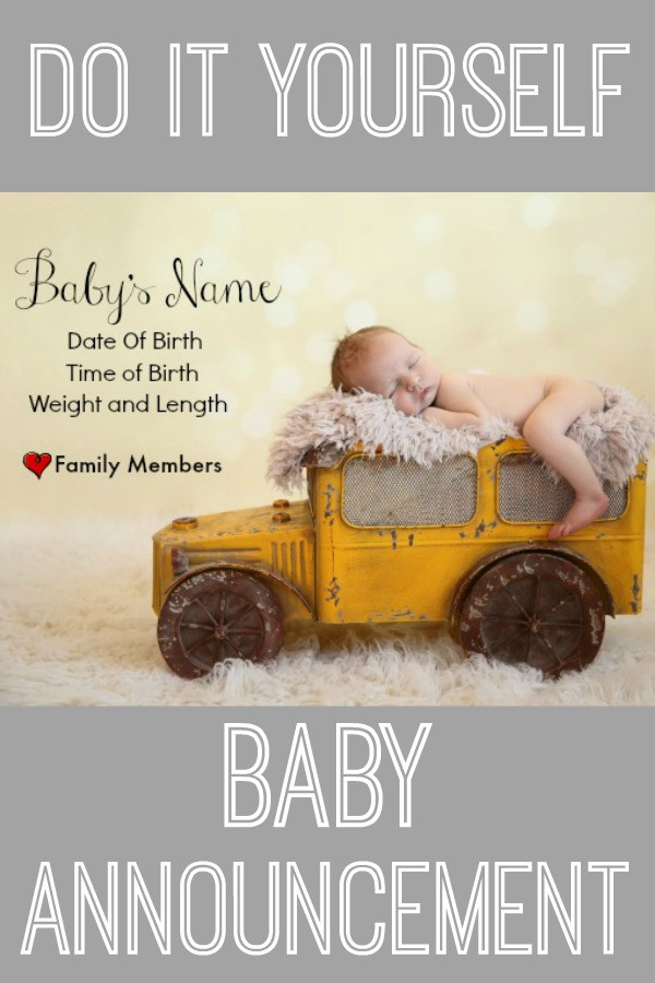 Best ideas about DIY Baby Announcement . Save or Pin DIY Baby Announcement Now.