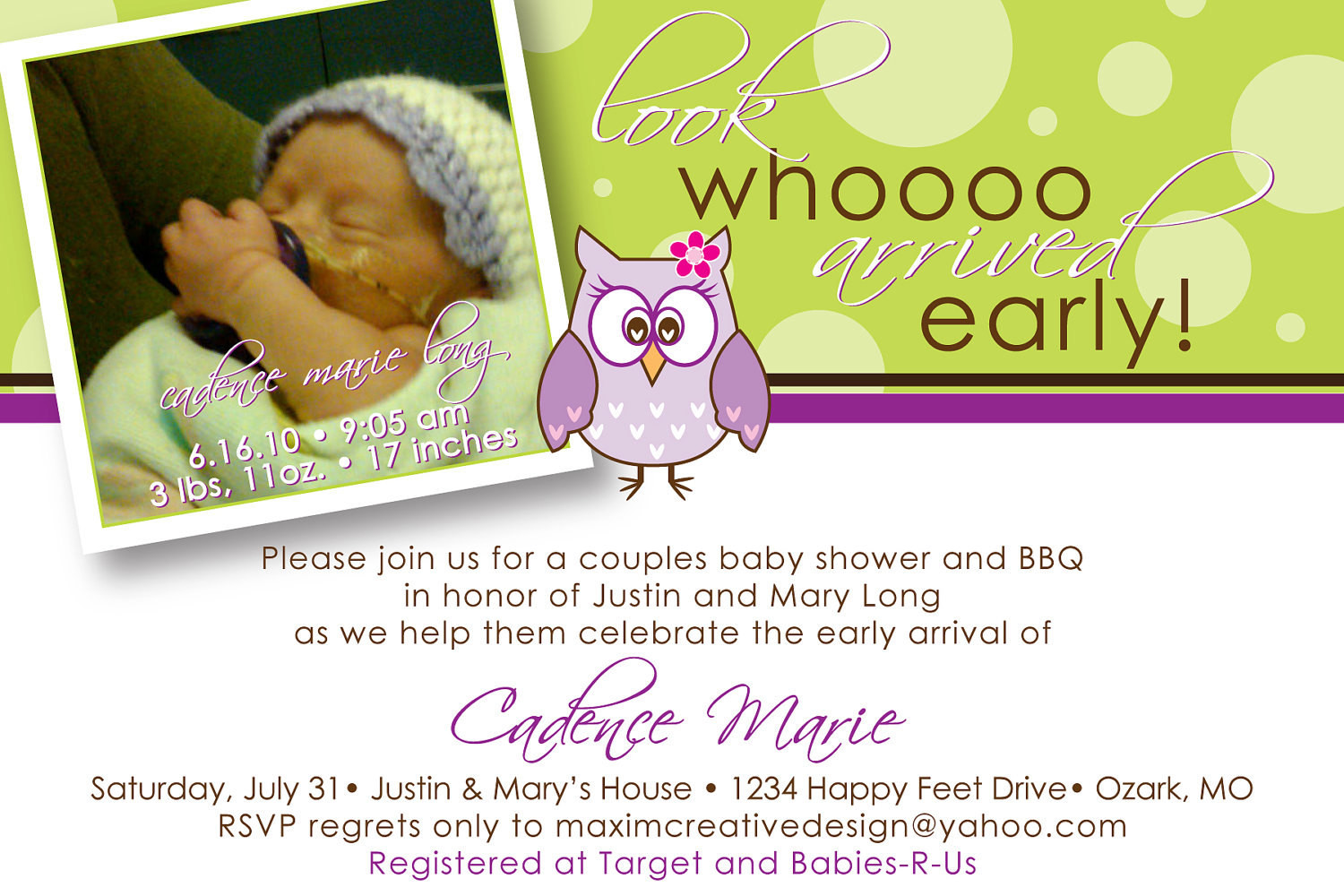 Best ideas about DIY Baby Announcement . Save or Pin DIY Printable Birth Announcement Owl by MaximCreativeInvites Now.