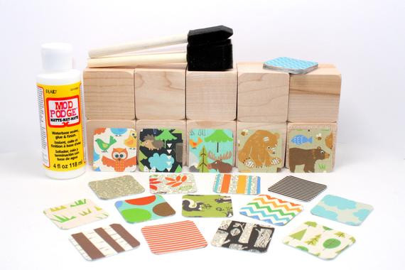 Best ideas about DIY Baby Blocks For Baby Shower . Save or Pin Wood Blocks DIY Baby Shower Craft Woodland Animals Now.
