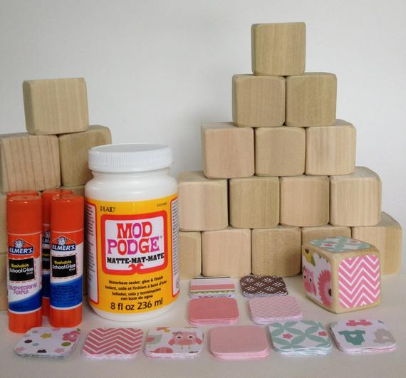 Best ideas about DIY Baby Blocks For Baby Shower . Save or Pin DIY Wood Baby Blocks Baby Girl Baby Shower Craft Now.