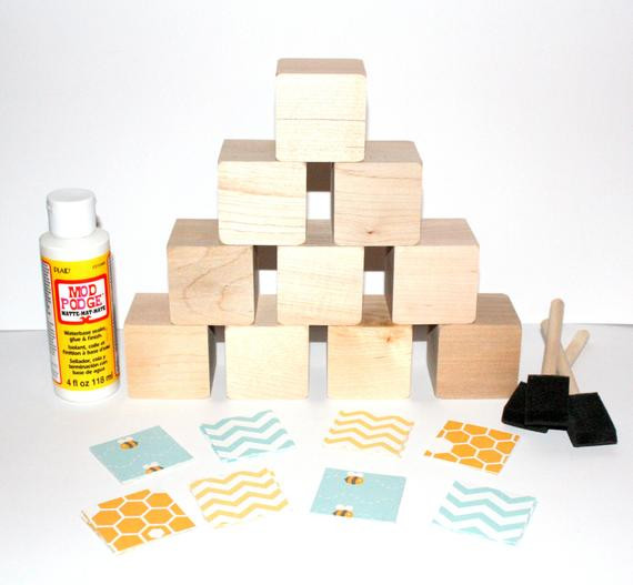 Best ideas about DIY Baby Blocks For Baby Shower . Save or Pin Baby Shower Craft DIY Baby Block Kit Wooden Blocks Now.