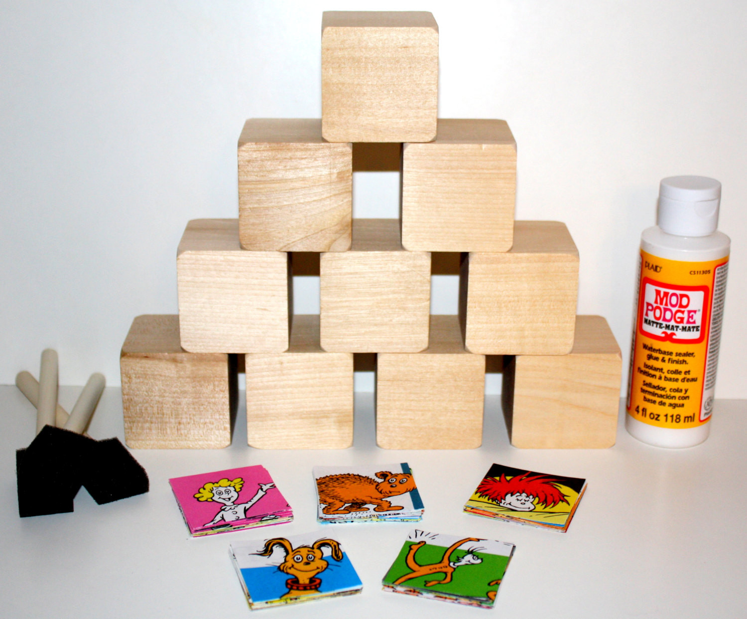 Best ideas about DIY Baby Blocks For Baby Shower . Save or Pin Dr Seuss Hop Pop DIY Baby Block Kit Baby Shower Craft Now.