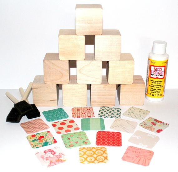 Best ideas about DIY Baby Blocks For Baby Shower . Save or Pin Vintage Wooden Baby Blocks DIY Baby Shower Craft Baby Girl Now.