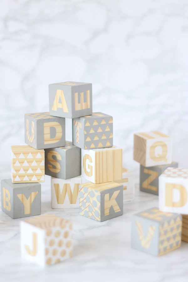 Best ideas about DIY Baby Blocks For Baby Shower . Save or Pin Wooden Baby Blocks Babyshower Craft DIY Pure Sweet Joy Now.