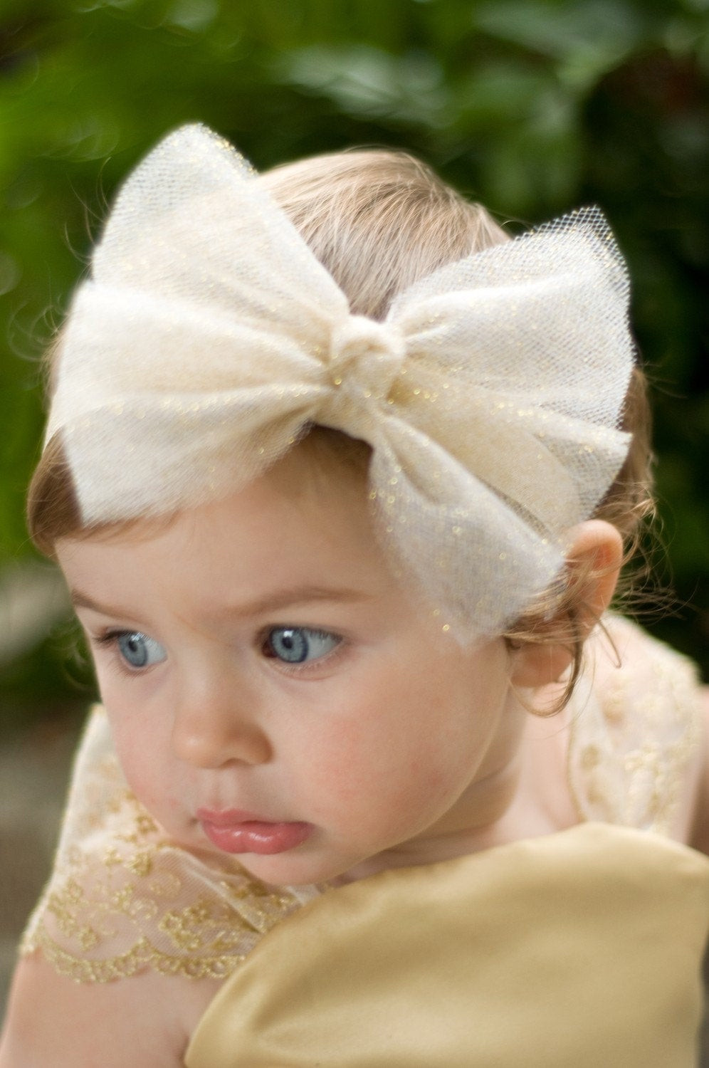 Best ideas about DIY Baby Bow Headband . Save or Pin Glittering Tulle Bow Headband or ClipAvailable in a Now.