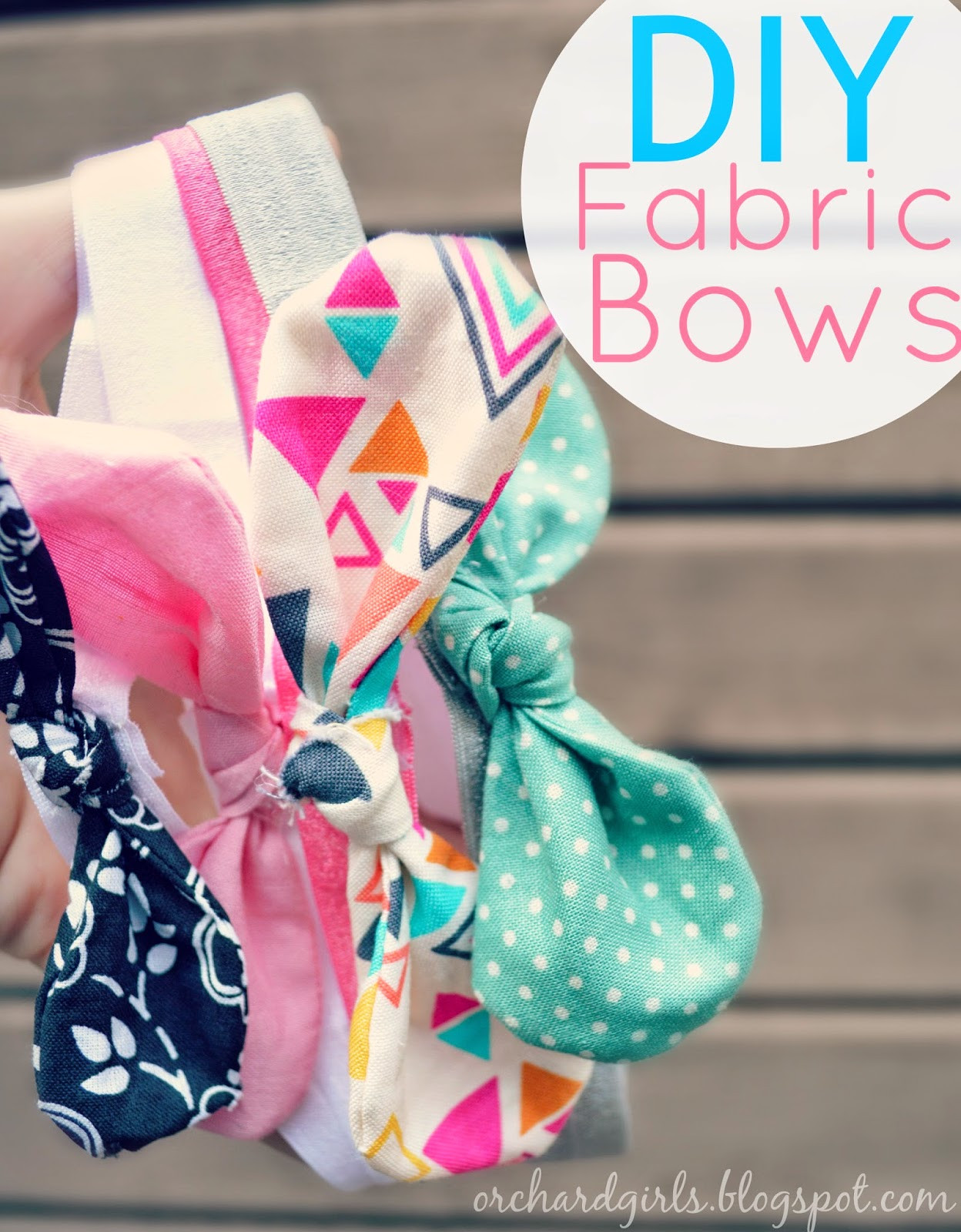 Best ideas about DIY Baby Bow Headband . Save or Pin Orchard Girls DIY Fabric Bows and Headbands Now.