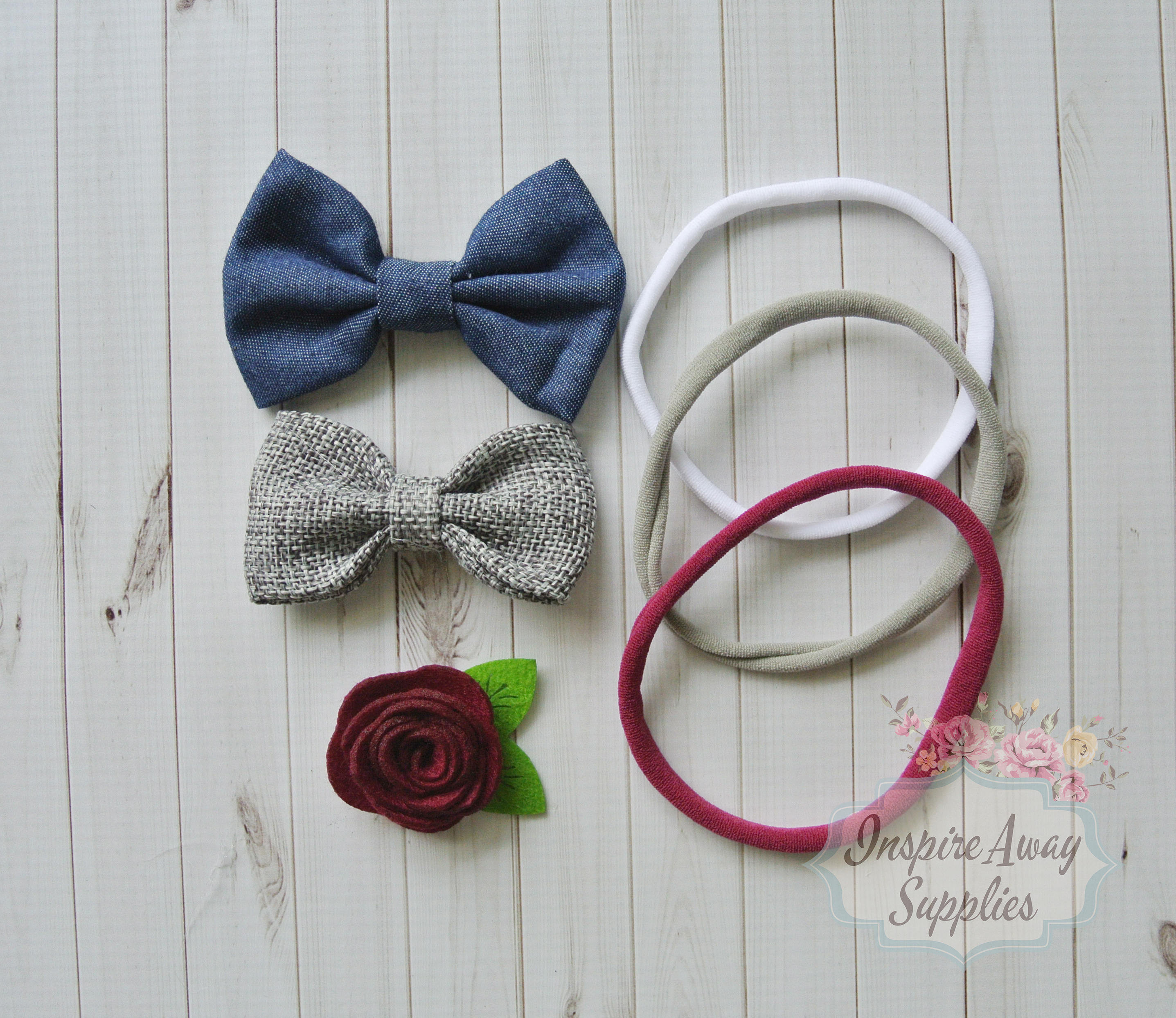 Best ideas about DIY Baby Bow Headband . Save or Pin DIY Kit Nylon Headbands Kit Bow headbands baby shower Now.