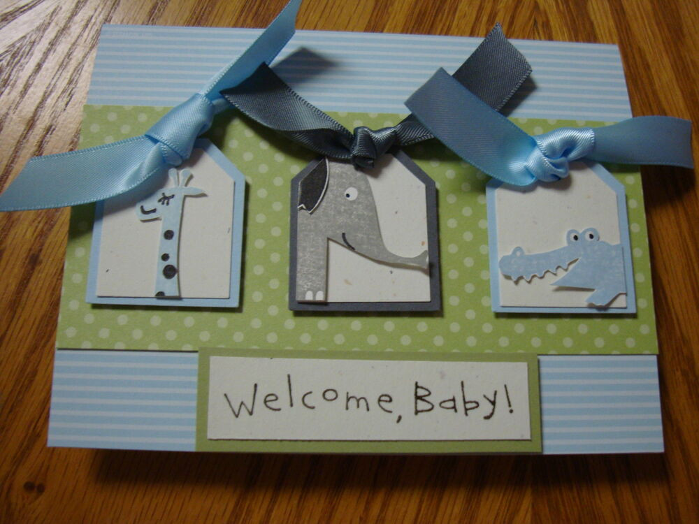 """Best ideas about DIY Baby Card . Save or Pin Stampin Up """"Wild about you"""" Wel e Baby Homemade Greeting Now."""
