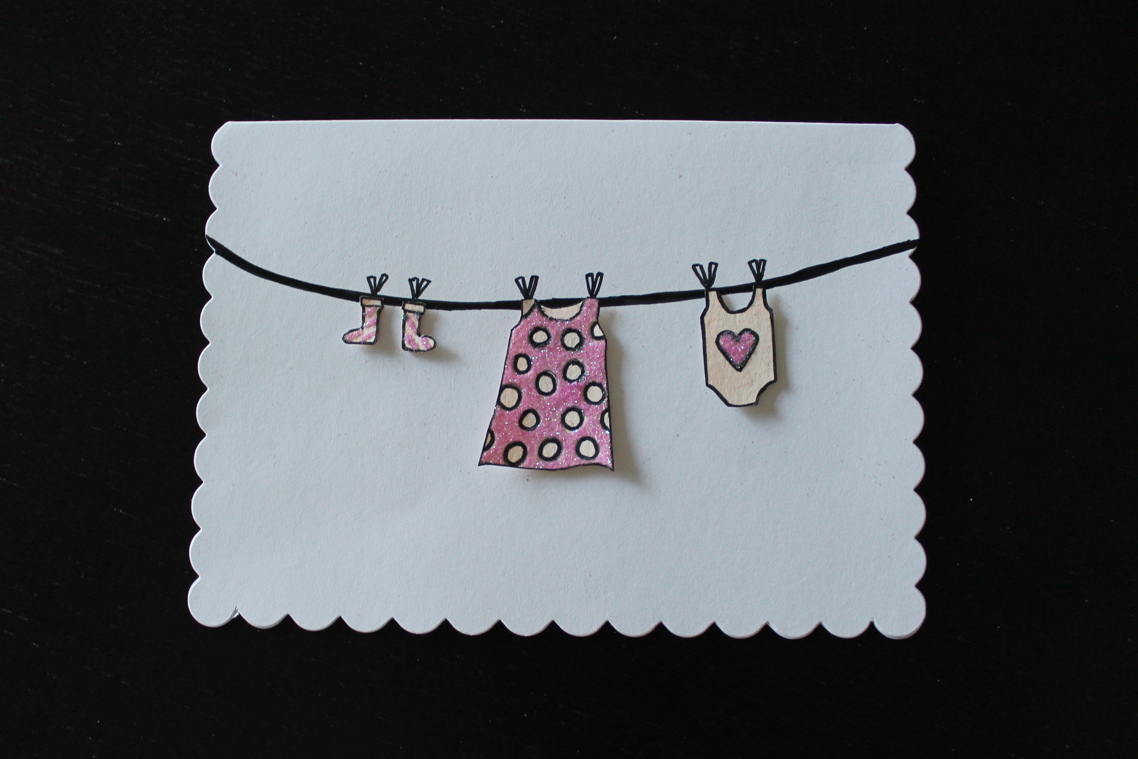 Best ideas about DIY Baby Card . Save or Pin Baby Girl Card DIY Now.