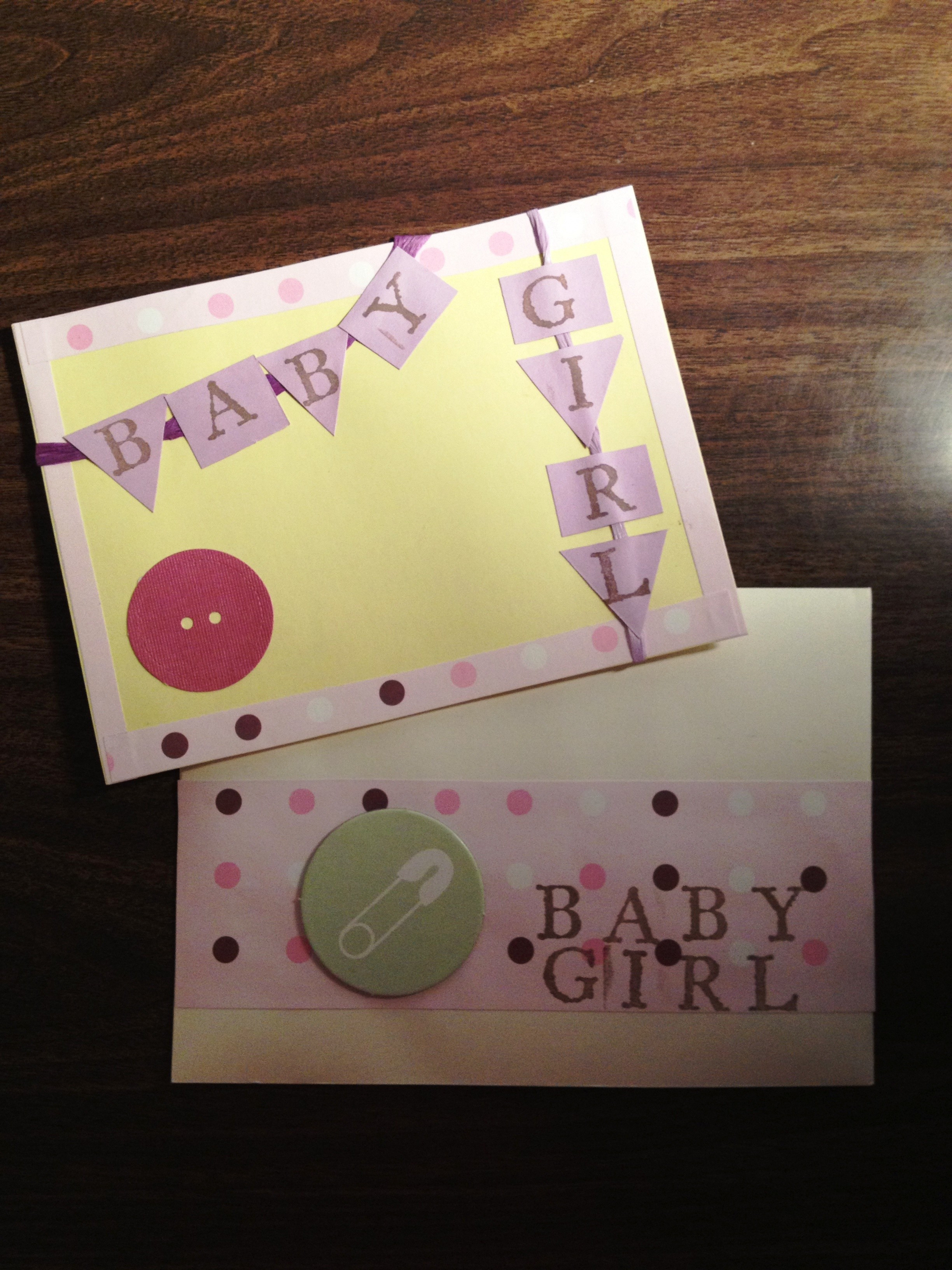 Best ideas about DIY Baby Card . Save or Pin DIY crafting handmade baby girl card – it s jou life Now.