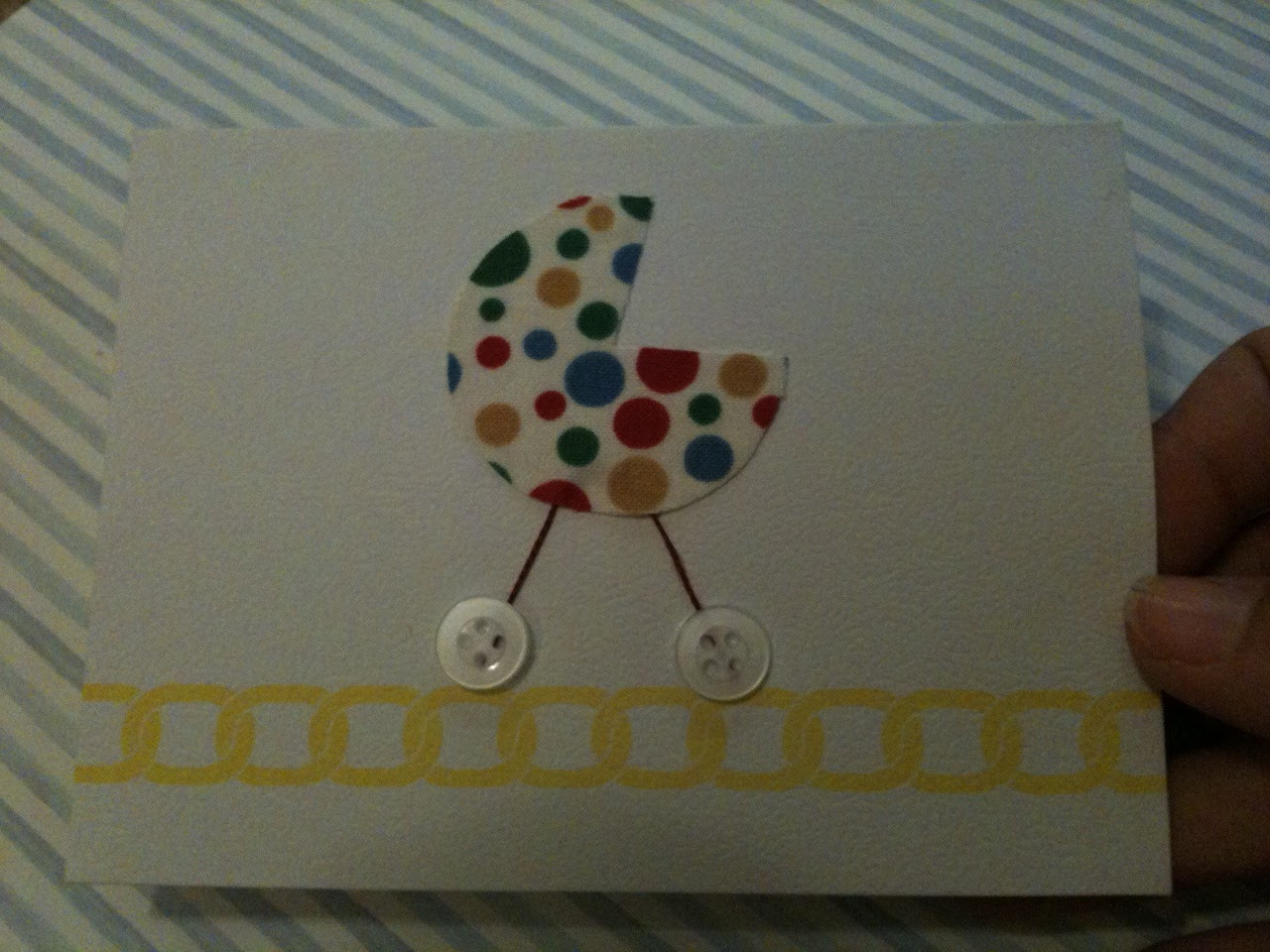 Best ideas about DIY Baby Card . Save or Pin Glitter Glue GLAM DIY Baby Shower Card Now.