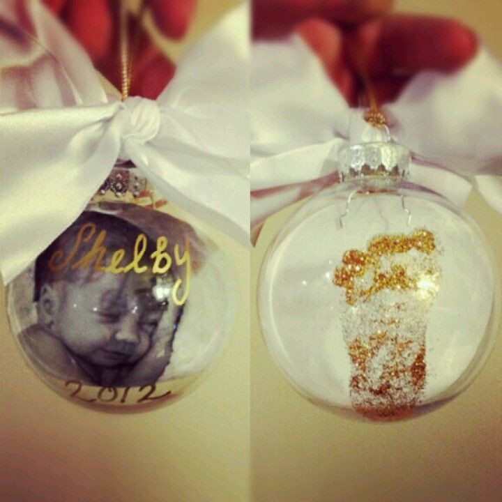 Best ideas about DIY Baby Christmas Ornaments . Save or Pin DIY baby s first Christmas ornaments I d rather put the Now.