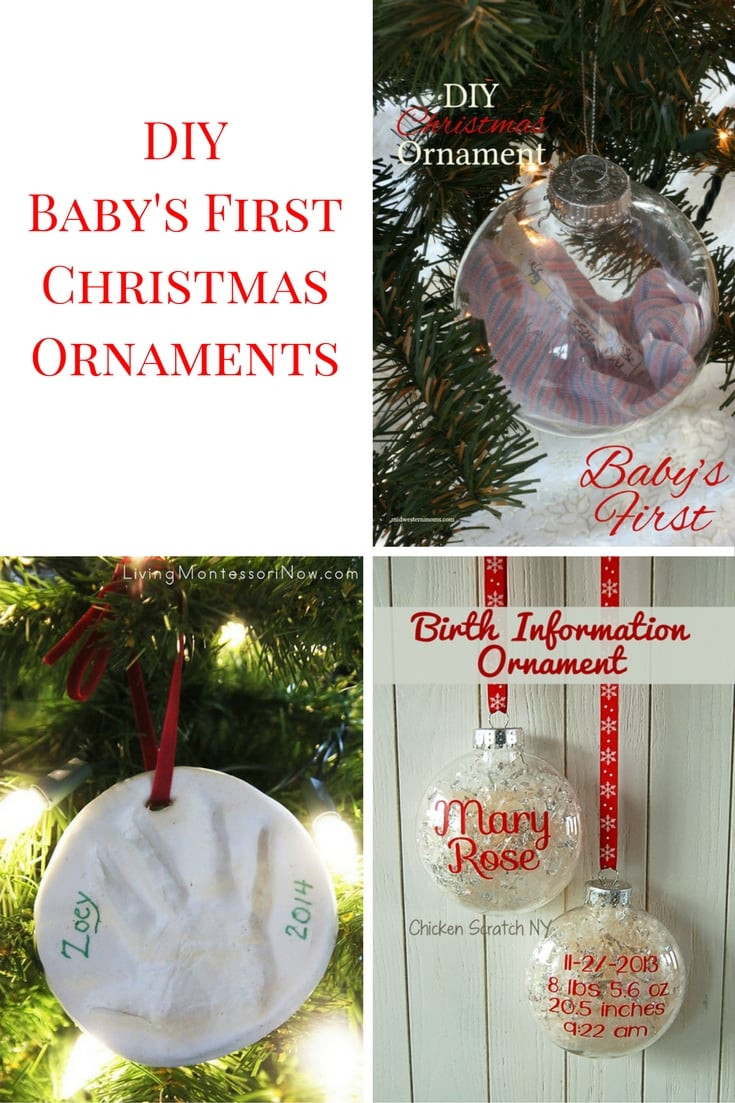 Best ideas about DIY Baby Christmas Ornaments . Save or Pin 9 DIY Baby's First Christmas Ornaments Now.