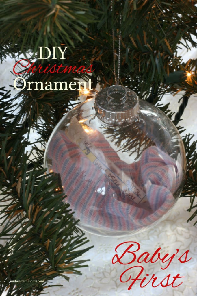 Best ideas about DIY Baby Christmas Ornaments . Save or Pin DIY Baby's First Christmas Ornament Now.