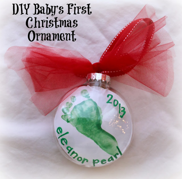 Best ideas about DIY Baby Christmas Ornaments . Save or Pin DIY Baby s First Christmas Footprint Ornament For Under Now.