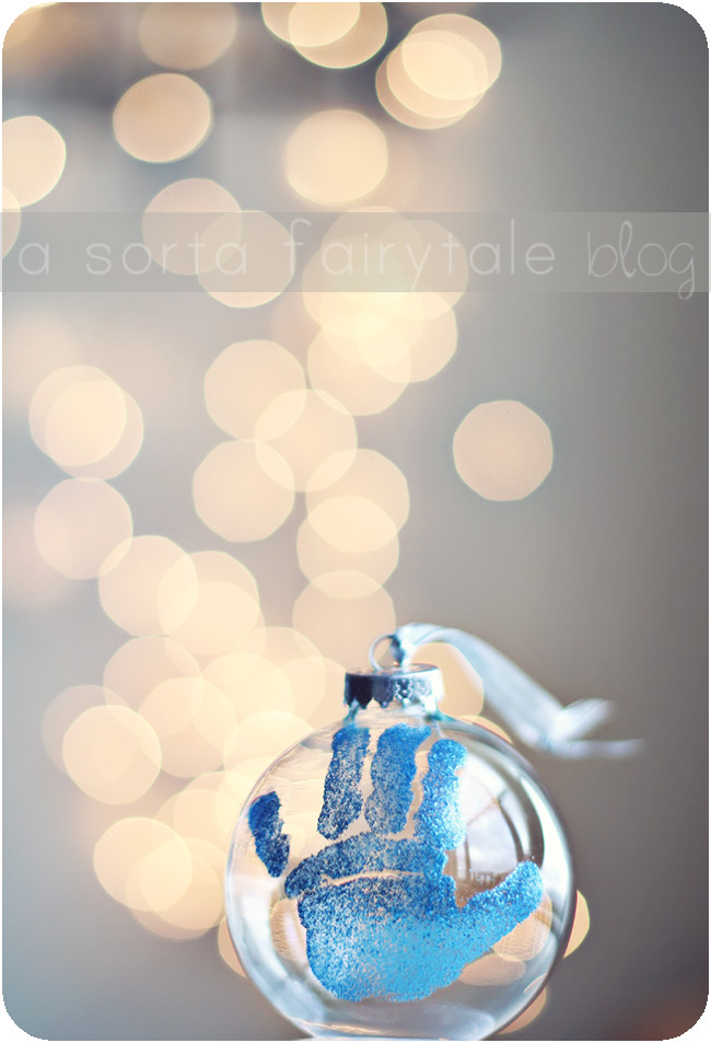 Best ideas about DIY Baby Christmas Ornaments . Save or Pin A Sorta Fairytale DIY baby s 1st Christmas ornament Now.