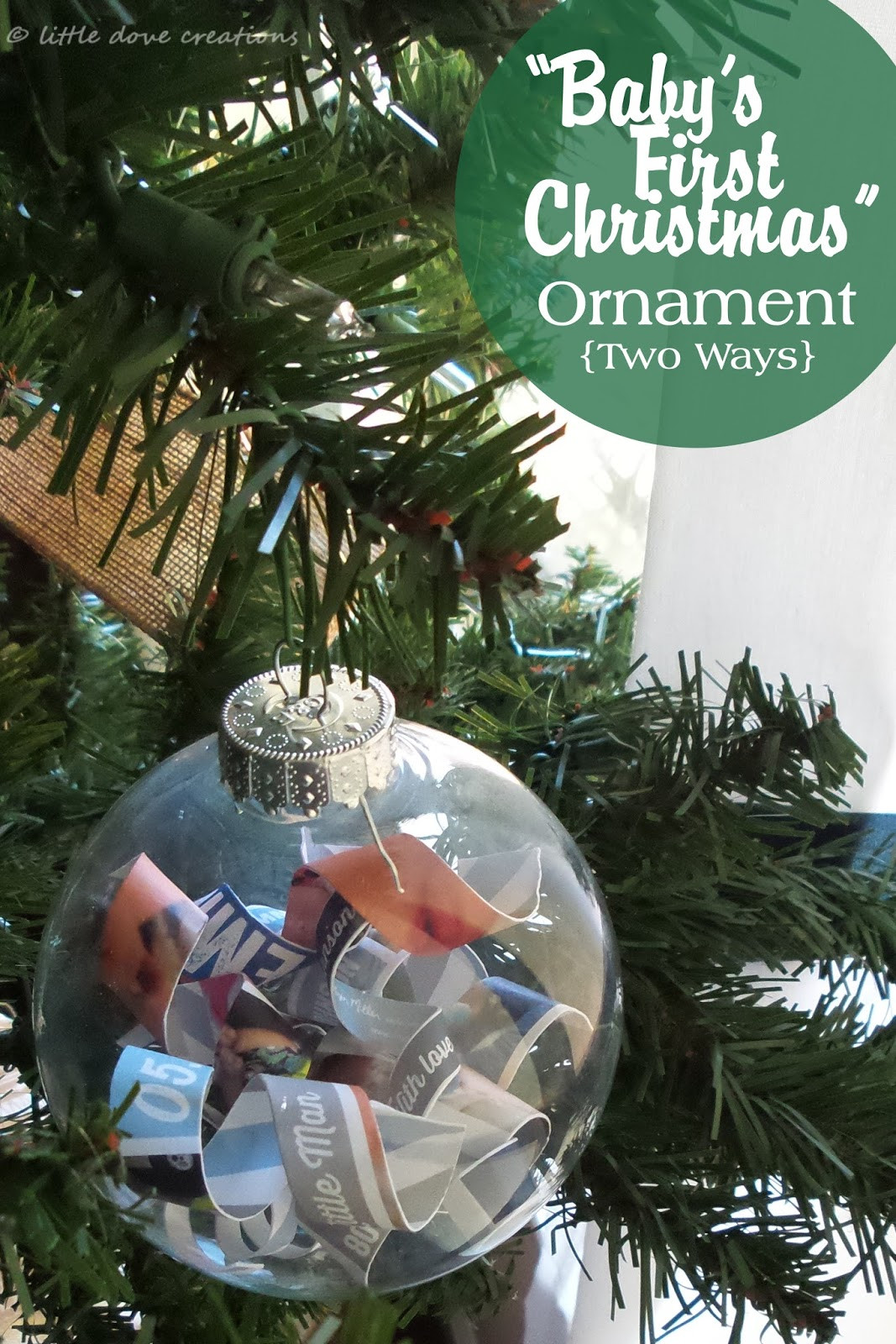 """Best ideas about DIY Baby Christmas Ornaments . Save or Pin diy """"baby's first Christmas"""" ornaments Now."""